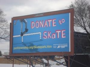 Park Township SkatePark Billboard