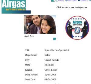 Specialty Gas Specialist