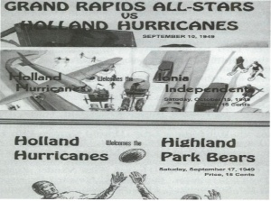 Holland Hurricanes Football Programs